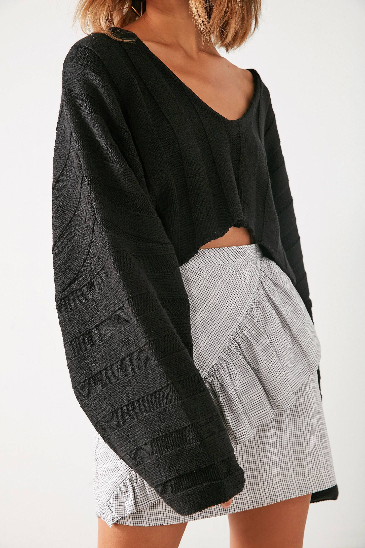9e68a28d1c0fd Shop Silence + Noise Slouchy Ribbed High Low Sweater at Urban Outfitters  today. We carry all the latest styles