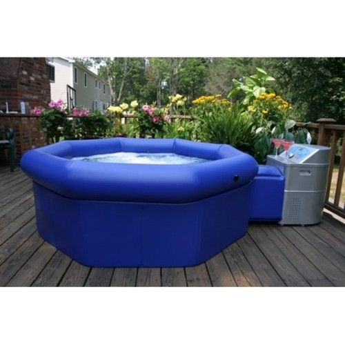 InstaSpa Inflatable Portable Whirlpool Hot Tub Spa with Cover - pool garten aufblasbar