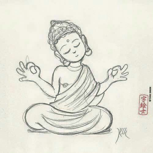 Pin By Lynne On Spiritual Quotes With Images Buddha Drawing