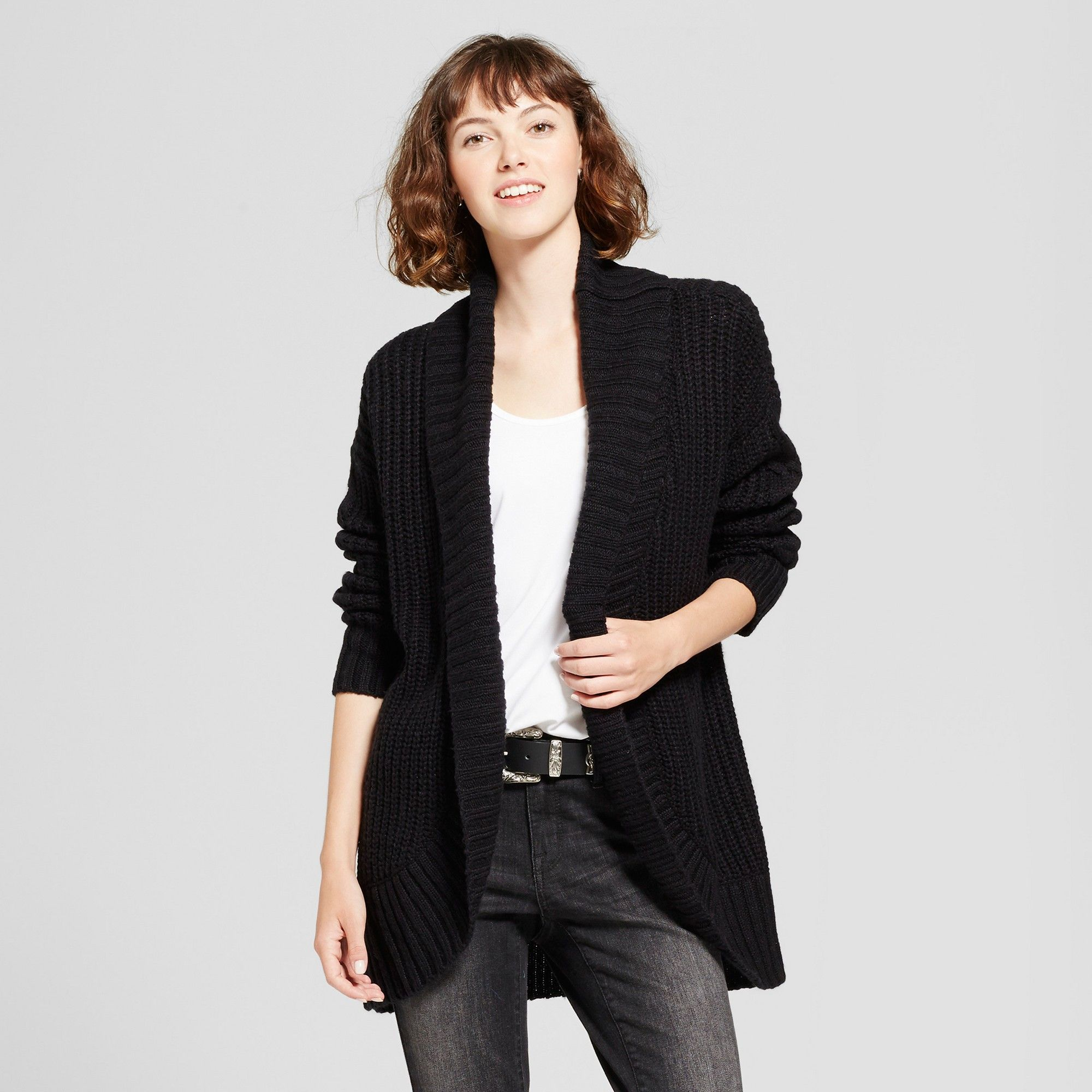 Women's Chunky Cocoon Cardigan - Mossimo Supply Co. Black Xxl ...