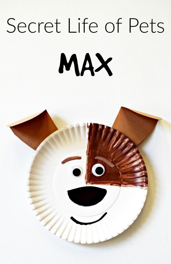 Secret Life Of Pets Max And Gidget Paper Plate Crafts This