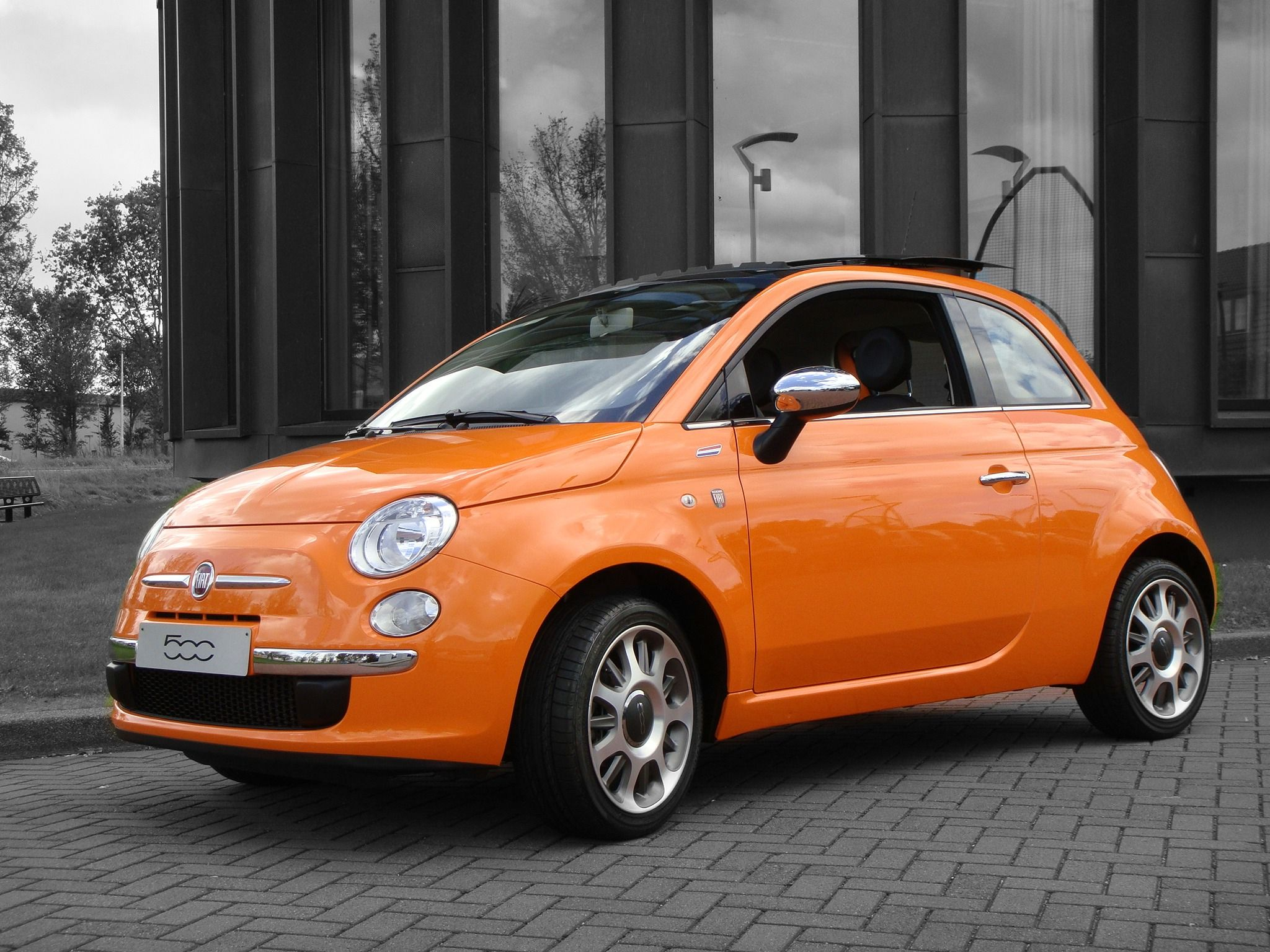 Fiat 500 Orange Specially Made For The Netherlands The