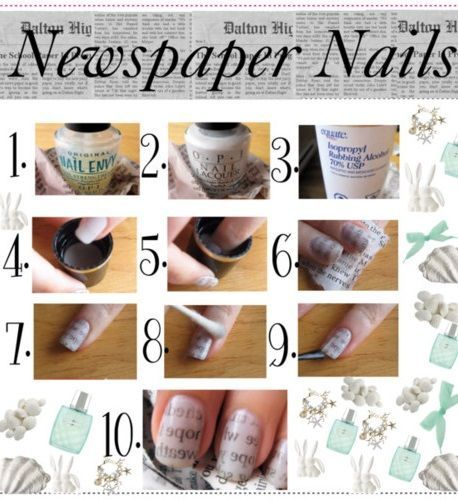 Newspaper nail art step by step gallery nail art and nail design newspaper nail art tutorial posh nail art kawaii pinterest newspaper nail art tutorial prinsesfo gallery prinsesfo Images