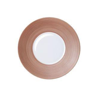 Hémisphère dessert plate, dusky pink