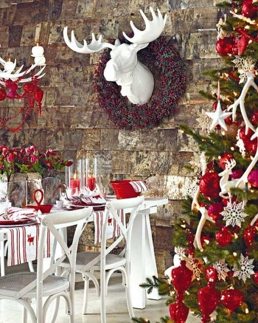 christmas-table-decoration-ideas1 Table decorations, Decoration - moose christmas decorations