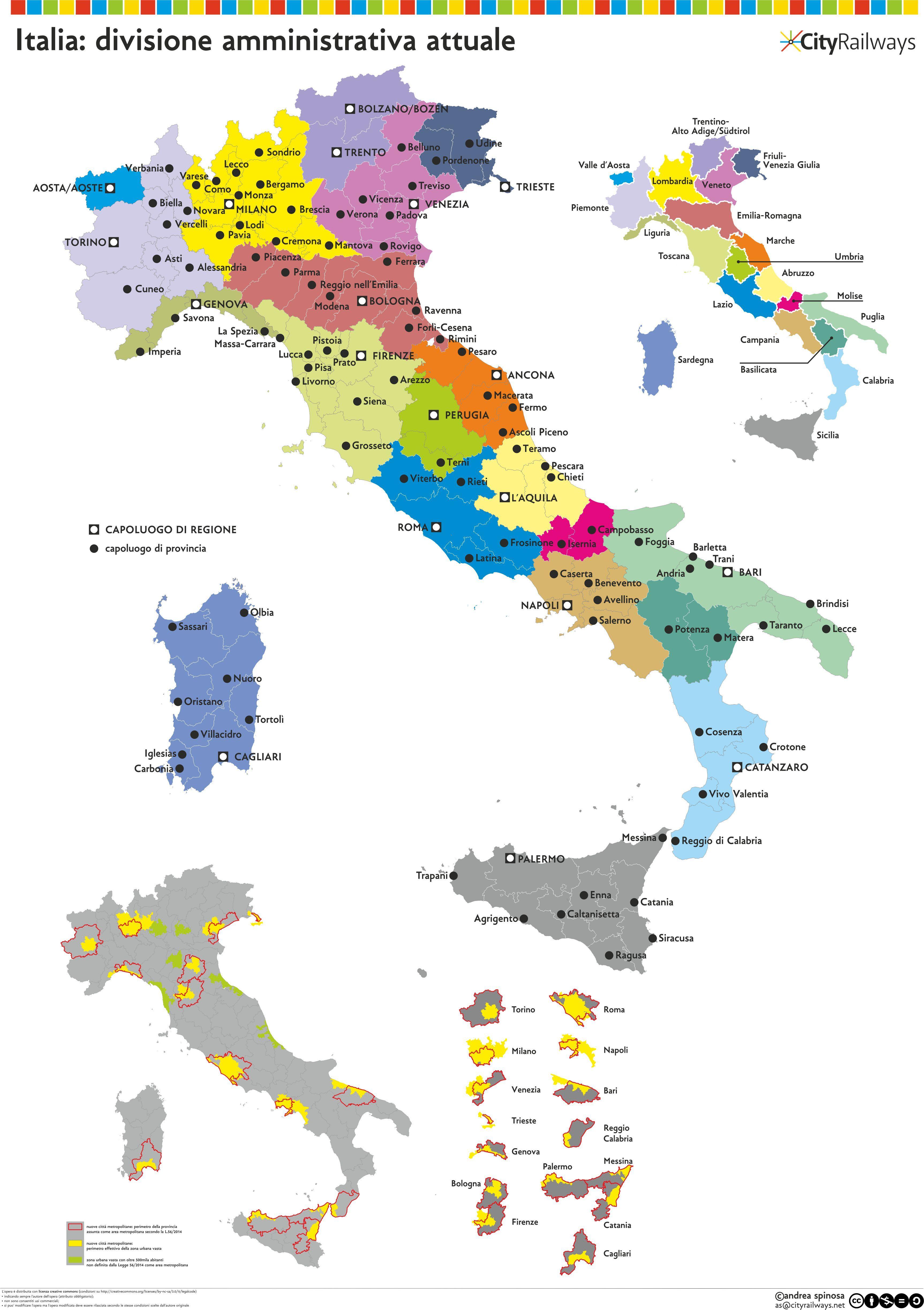 Italys Atlas proposal of an optimization of the current