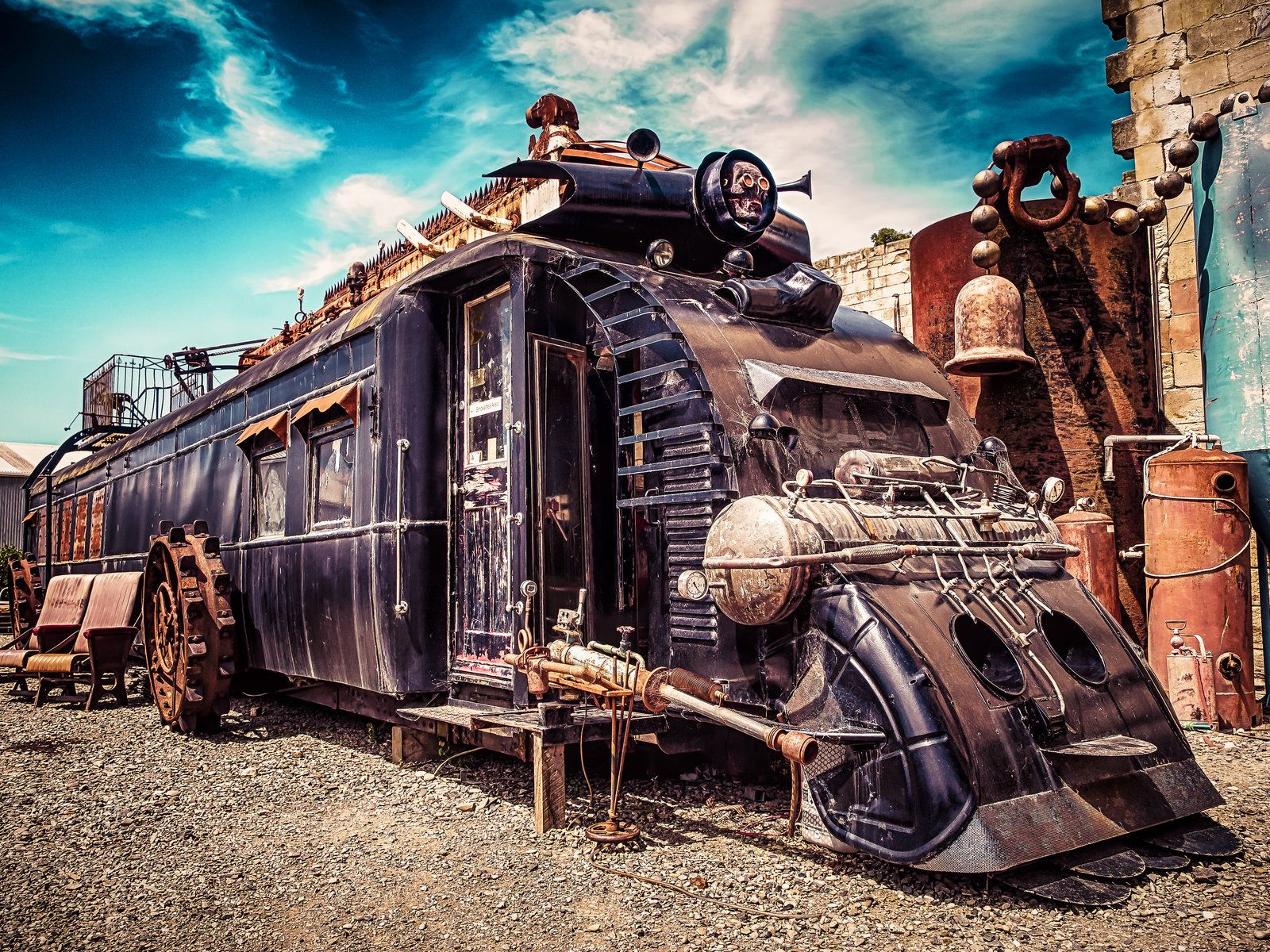 Steampunk Train By Wolfblueeyes Deviantart Com On