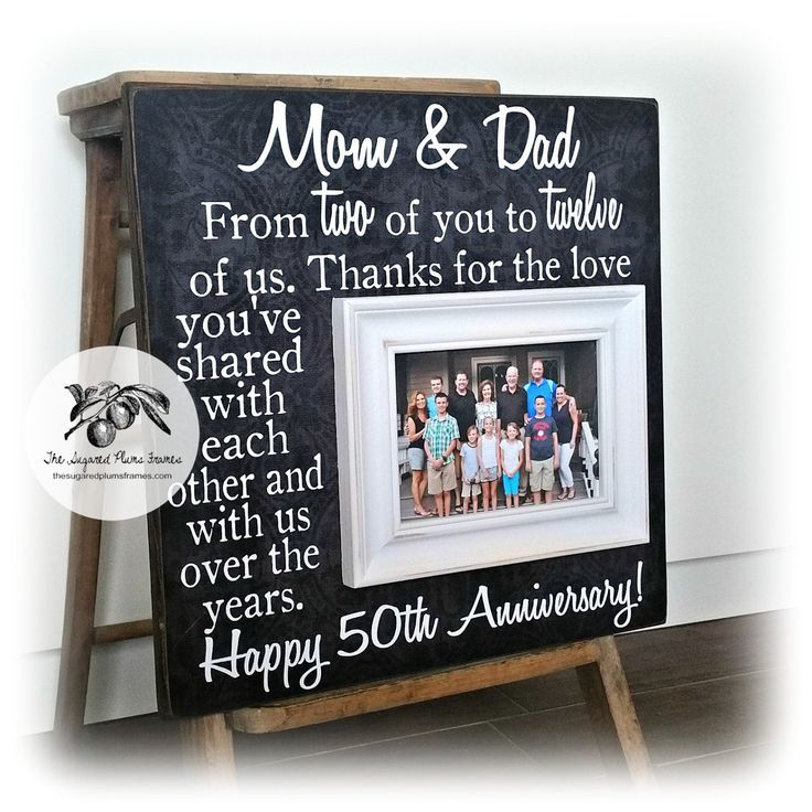 Anniversary Gifts for Parents, Golden Wedding Anniversary