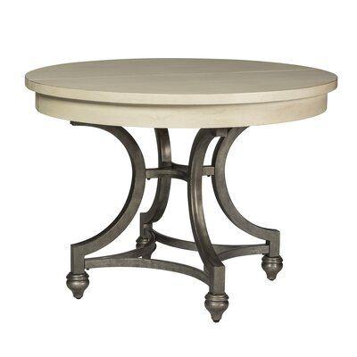 Kelly Clarkson Home Jaclin Extendable Trestle Dining Table Dining Table Wood Dining Room Round Dining Room
