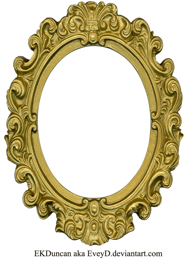 Ornate Gold Frame - Oval 1 by ~EveyD on deviantART | Ornate Frames ...