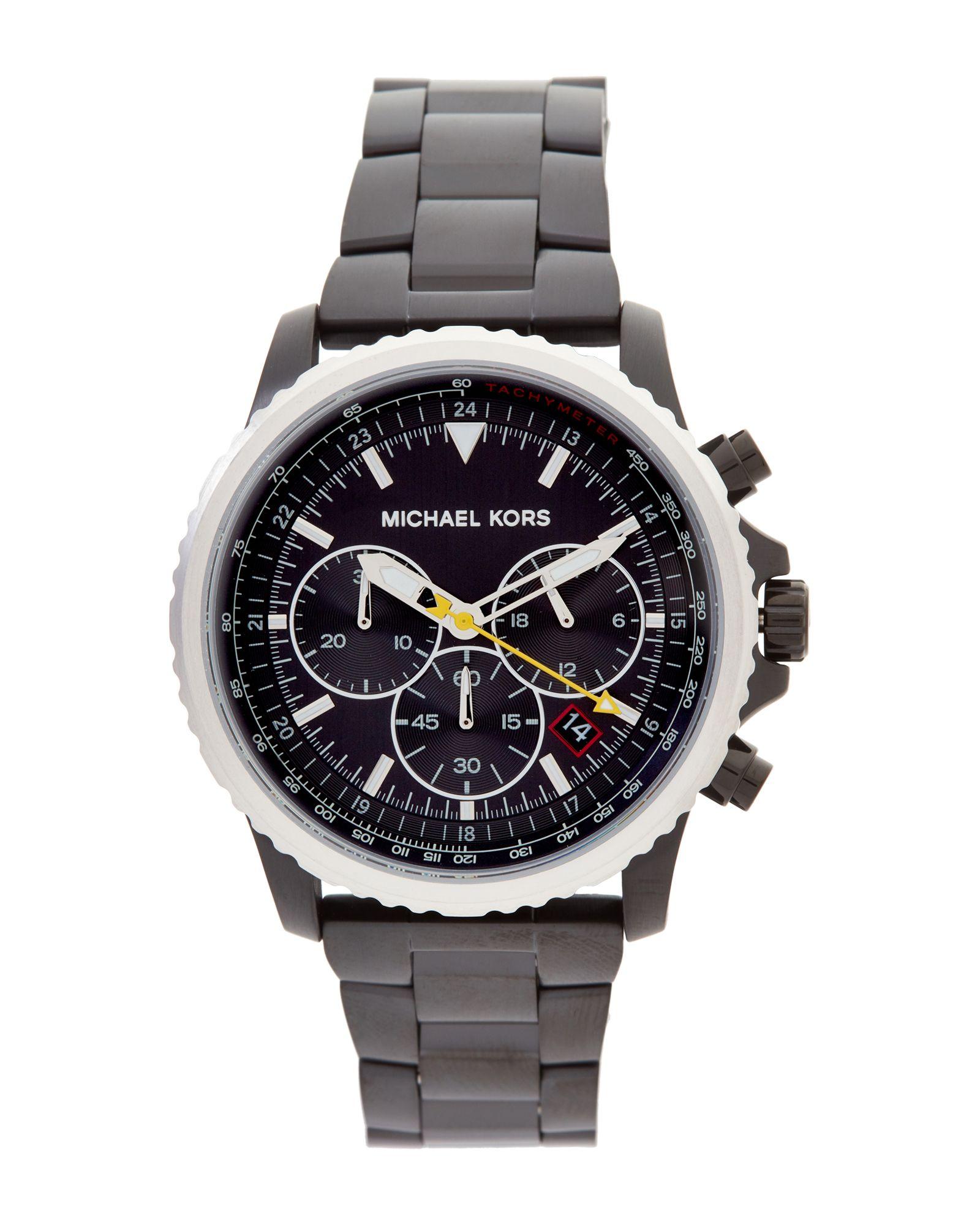 13fdc1dbc843 Michael Kors MK8643 Black   Silver-Tone Theroux Watch