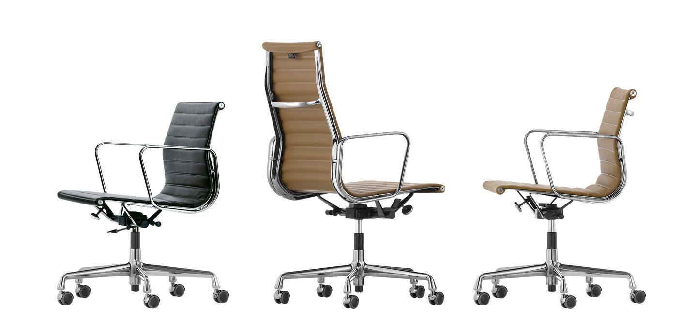 Eames Ea 117 Bureaustoel.Aluminium Chairs Ea 117 118 119 Charles Ray Eames 1958 Vitra