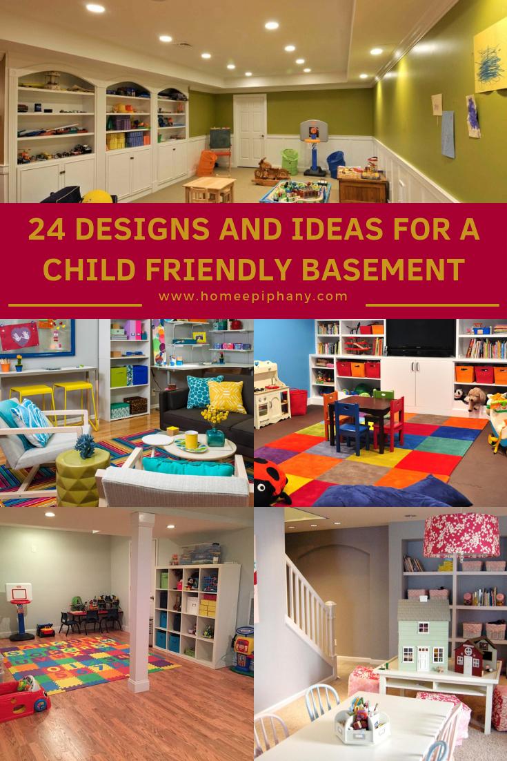 24 Child Friendly Finished Basement Designs Kids Basement