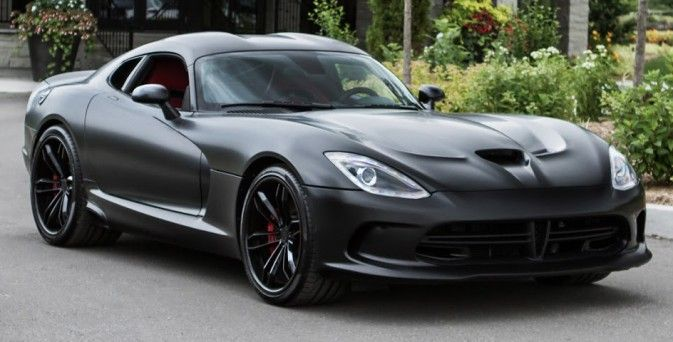 Matte Black Dodge Viper On PUR Wheels U003e Constructeur : Dodge   Supercharged