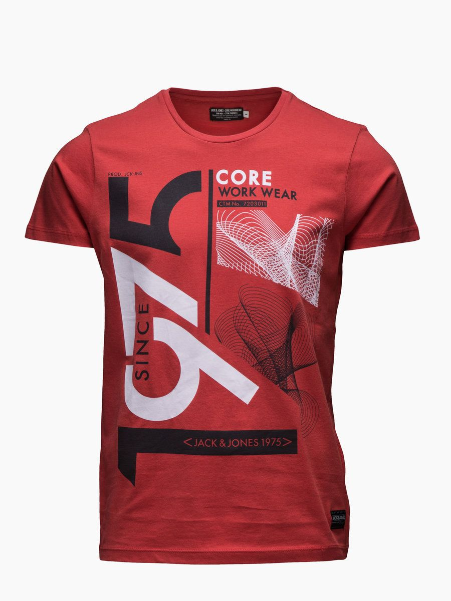 Red Tee Symmetry Style Design Slimfit Tee shirt