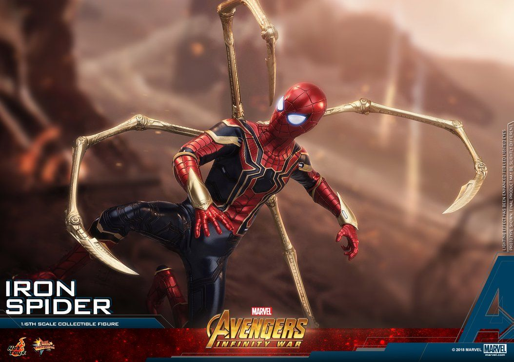 Pin By Infinity On Herois E Viloes Iron Spider Marvel Collectibles Hot Toys