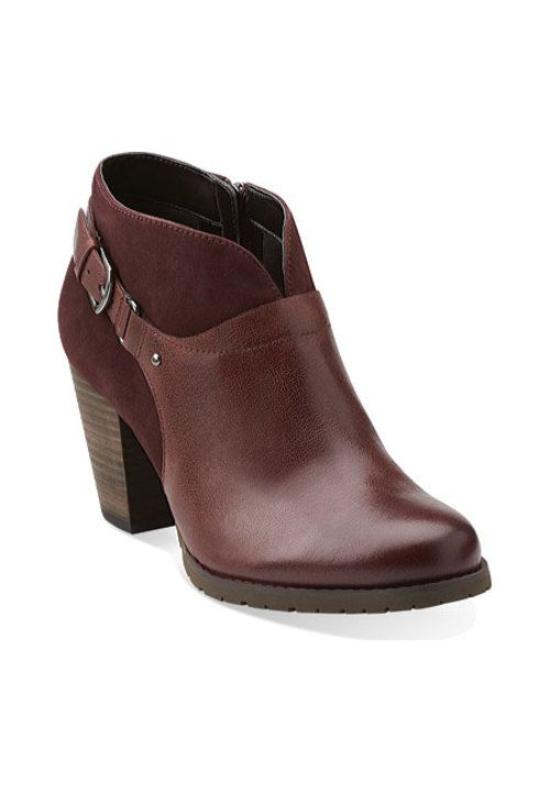Mission Parker in Burgundy Lea/Burgundy Sue - Womens Boots from Clarks