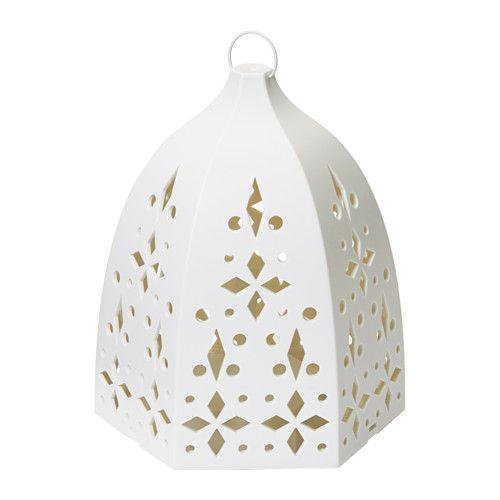 IKEA - STRÅLA, LED lanterne, Placeres i et vindue eller på et bord og gi'r et varmt og hyggeligt lys i dit hjem.LED pæren bruger op til 85% mindre energi og holder 20 gange længere end glødepærer.
