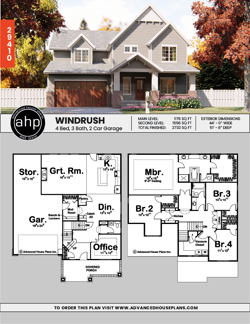 2 Story Cottage Style House Plan Windrush Craftsman House Plans Cottage Style House Plans Sims House Plans
