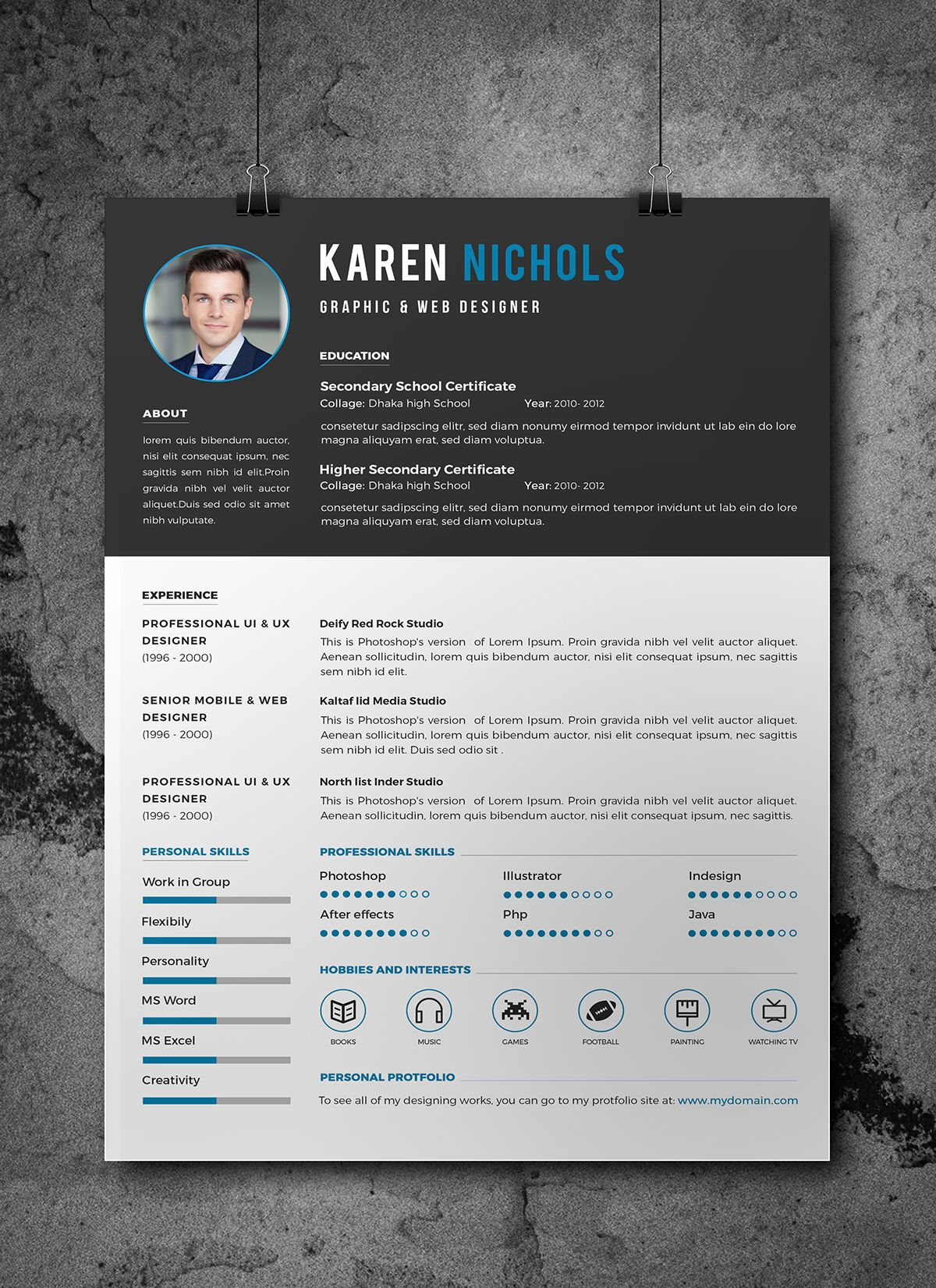 Free resume with images downloadable resume template