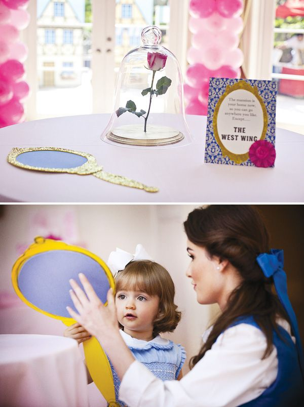 (The West Wing with Belle, the Magic Mirror & the Wilted Rose) Beauty and the Beast Party @HWTM