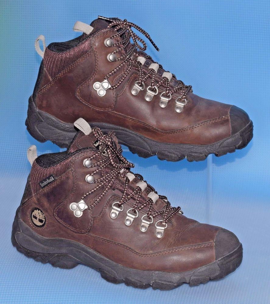 163c241b4ca8 EUC TIMBERLAND Women s Performance ACT Brown Leather Hiking Boots US 7.5 M   Timberland  HikingTrail  WalkingHiking
