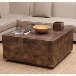 Modern Rustic Furniture Solid Wood 36 Square Coffee Table Modern Rustic Furniture Rustic Coffee Tables Rustic Doors
