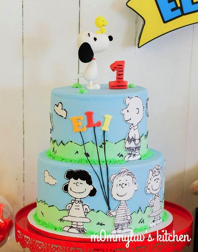 Terrific Charlie Brown Birthday Party Cake Cupcakes And Cookies
