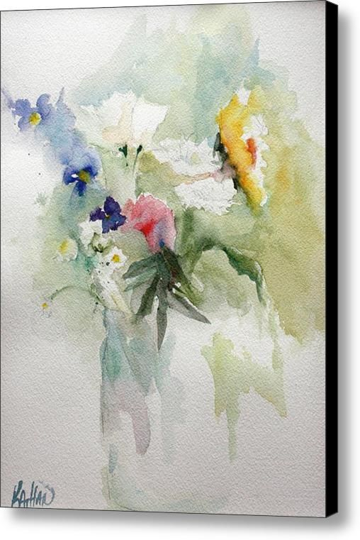 Vase Of Flowers Canvas Print Canvas Art By Kathleen Hartman