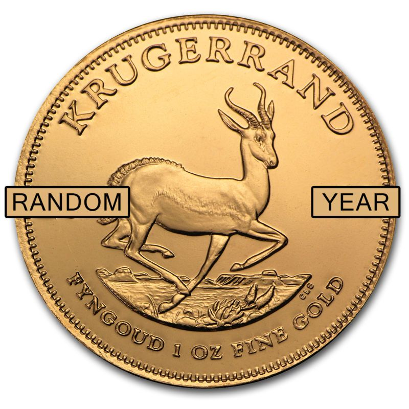 Details About 1 Oz Gold South African Krugerrand Coin Random Year Sku 85815