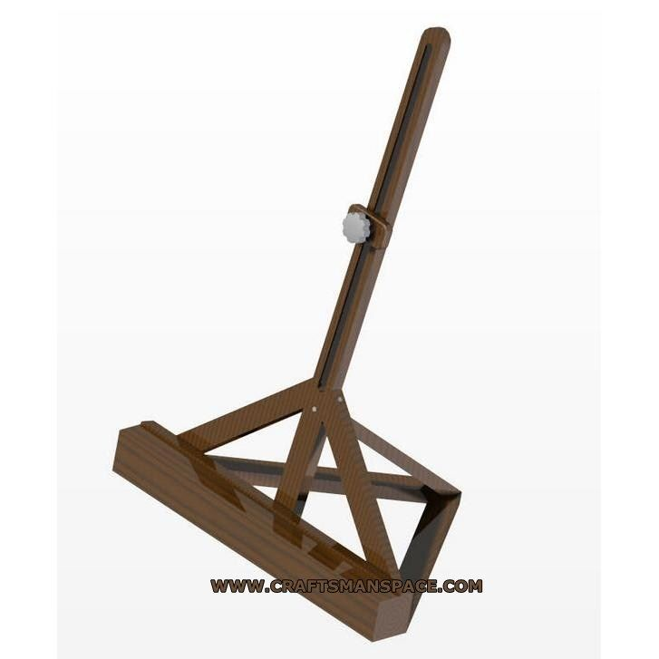 single mast tabletop easel plan - Table Top Easel