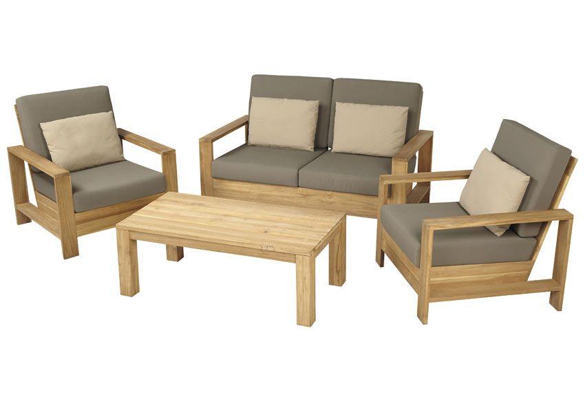 Sofa De Madera Cayo Largo Ref 17784333 Leroy Merlin Fachadas De - Sofas-de-madera