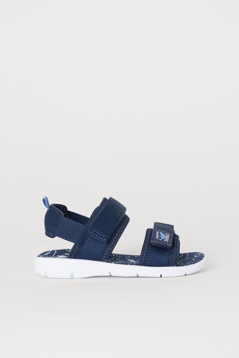 Scuba Look Sandals Strap Heels Sandals Blue Sandals