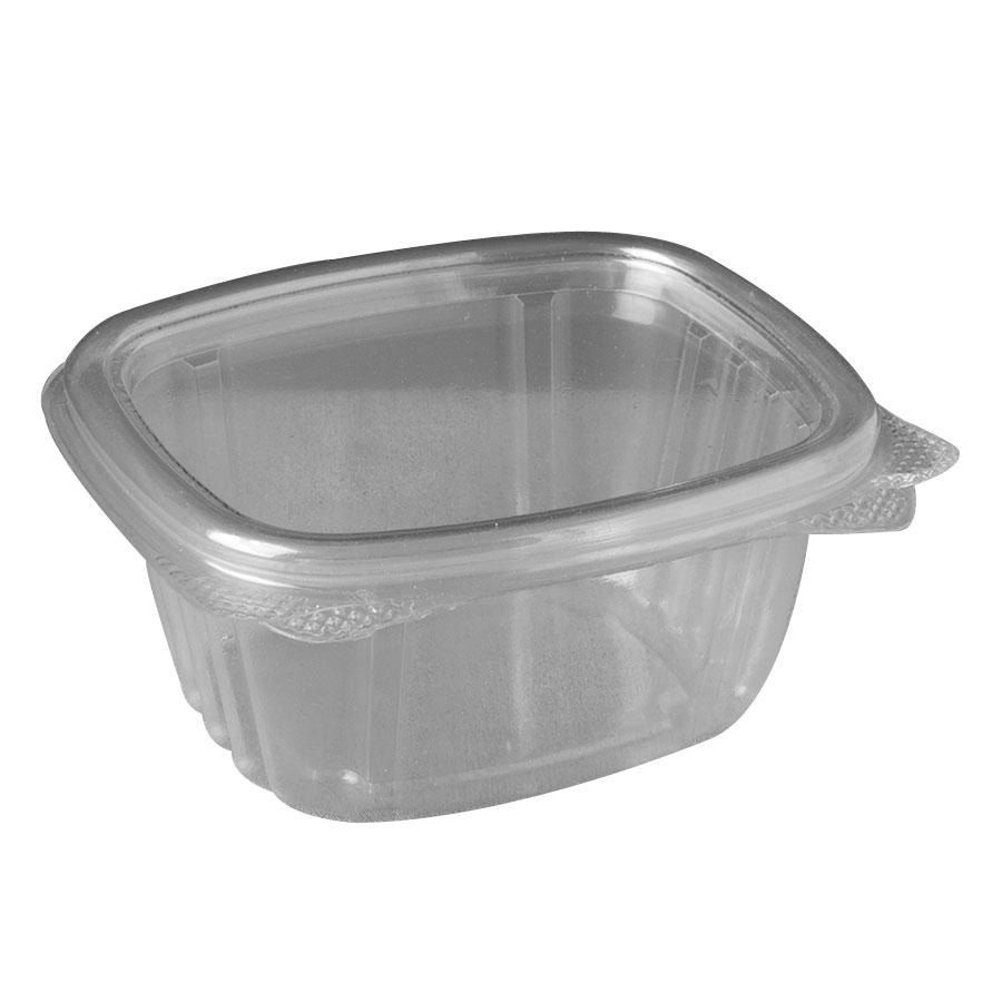 Genpak Ad06 6 Oz Clear Hinged Deli Container 100 Pack Hinges