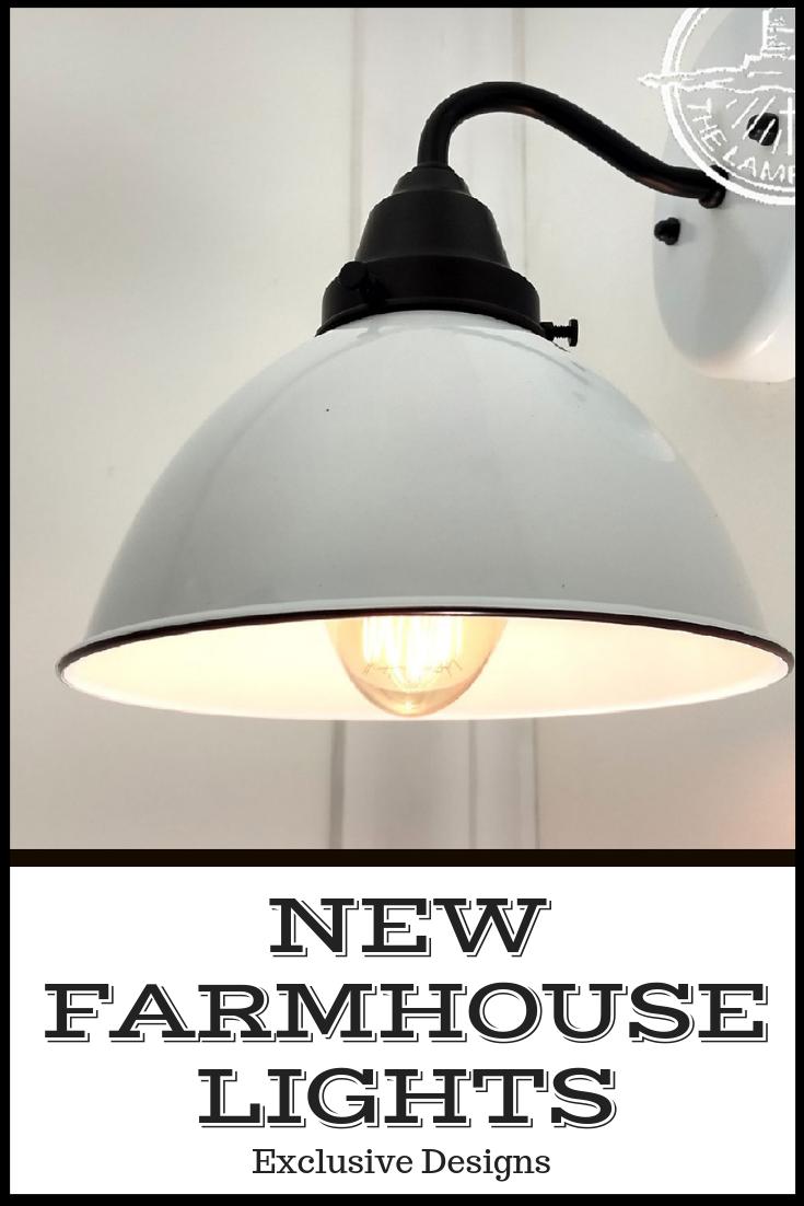 White Enamel Wall Sconce Farmhouse Lighting Farmhouse Bathroom Light Dining Lighting Farmhouse Light Fixtures