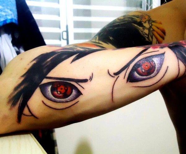 Madara Uchiha's mangekyou sharingan tattoo. | Anime ...