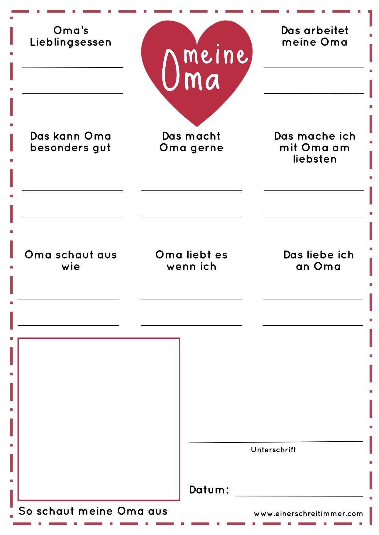 Photo of Fragebogen Meine Oma – Geschenk zum Muttertag