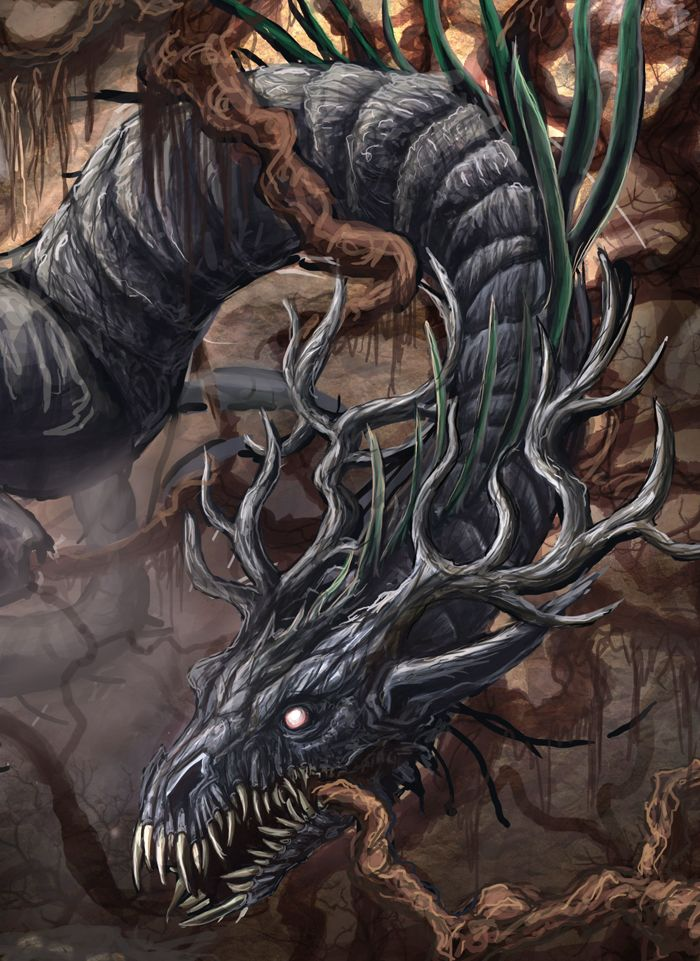 nidhogg dragon norse - 700×961