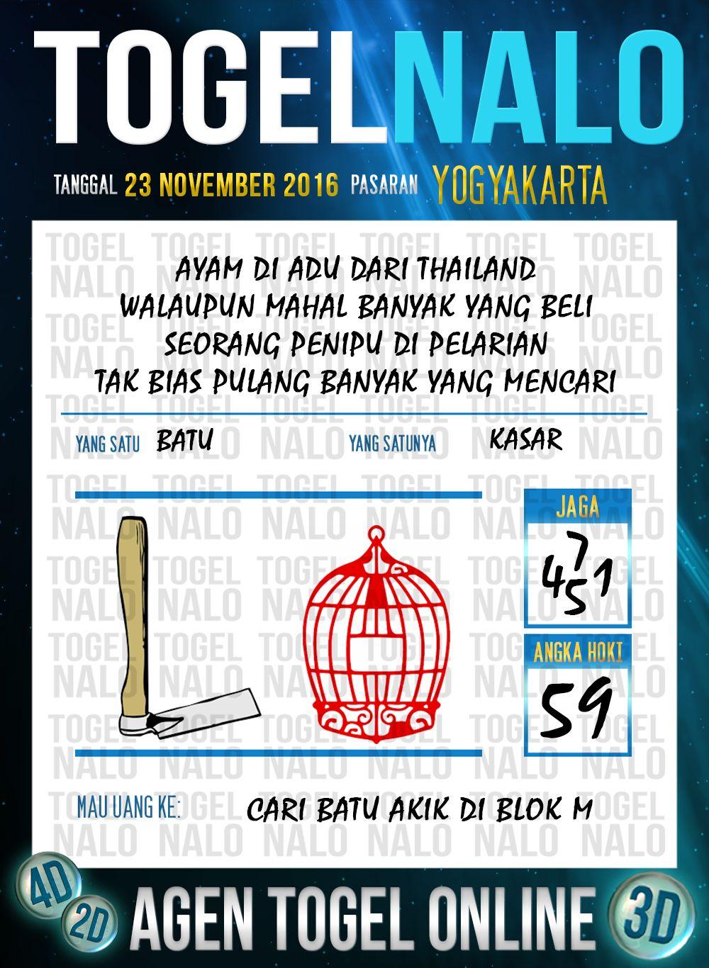 Kode Jp 2d Togel Wap Online Live Draw 4d Togelnalo Yogyakarta 23 November 2016 November 8 Januari Yogyakarta