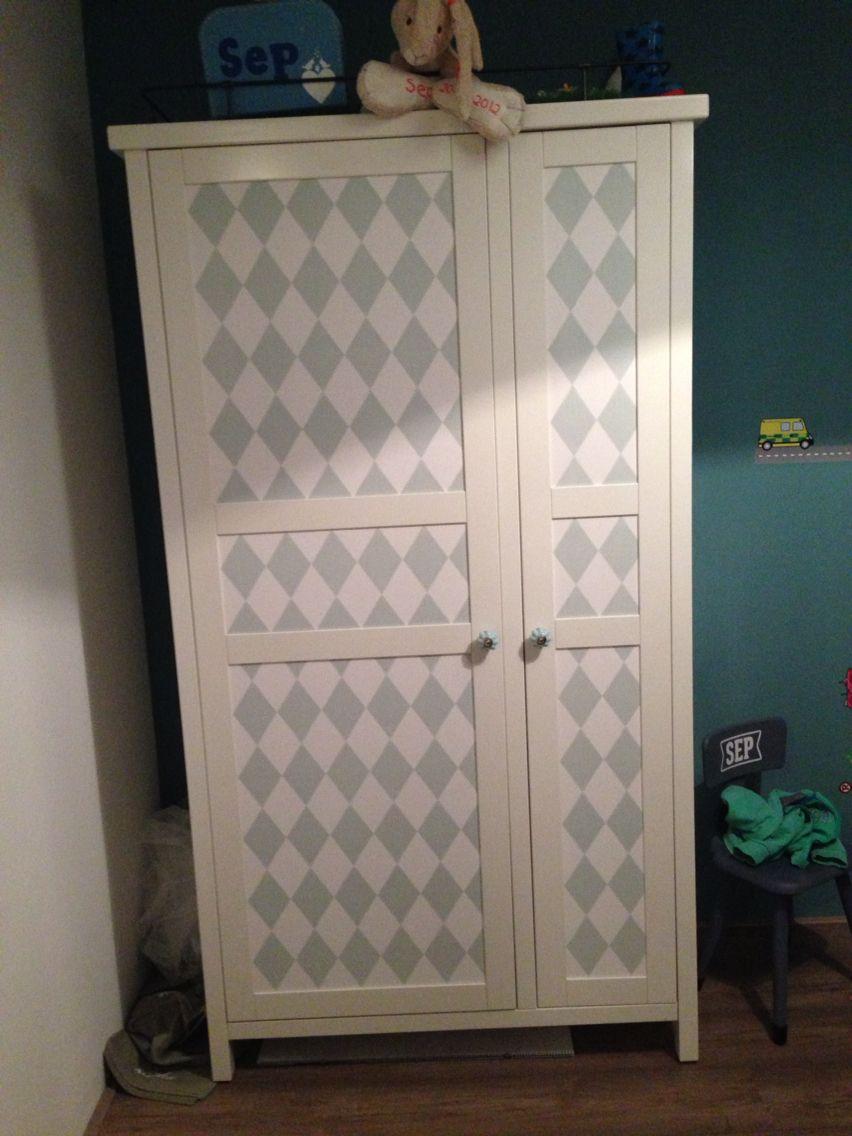 Een Ikea Hemnes Kast Gepimpt Met Ferm Living Behang En
