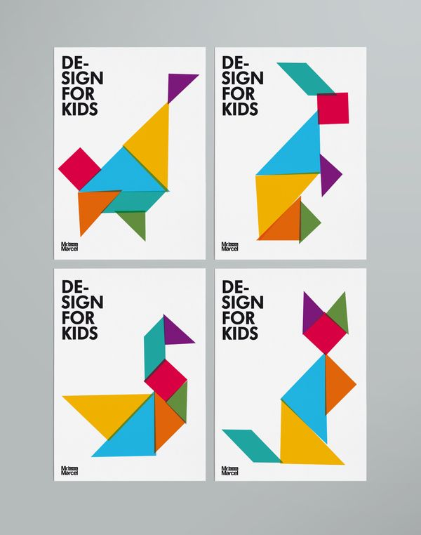 Tangram used as a tool for approaching the basics of graphic ...