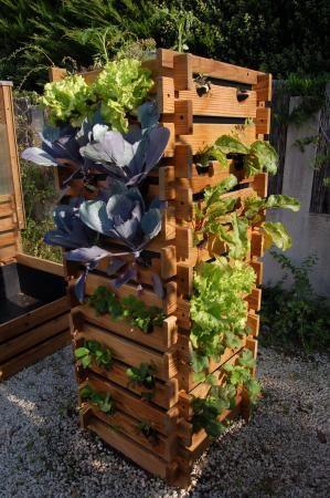Salatturm diy garten ideen garten ideen diy garten for Pflanzengestaltung garten