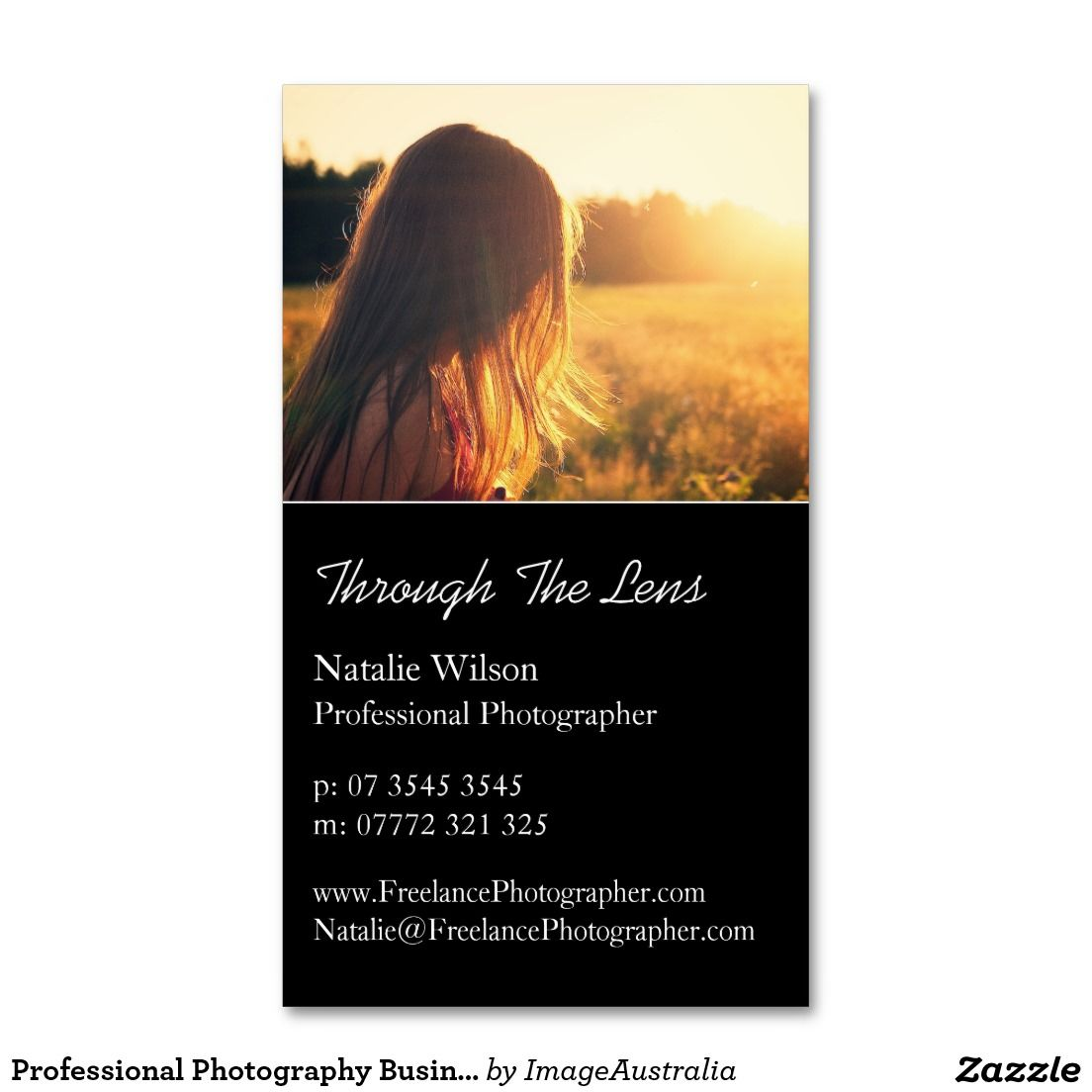 Professional Photography Business Card | Photography, Photography ...