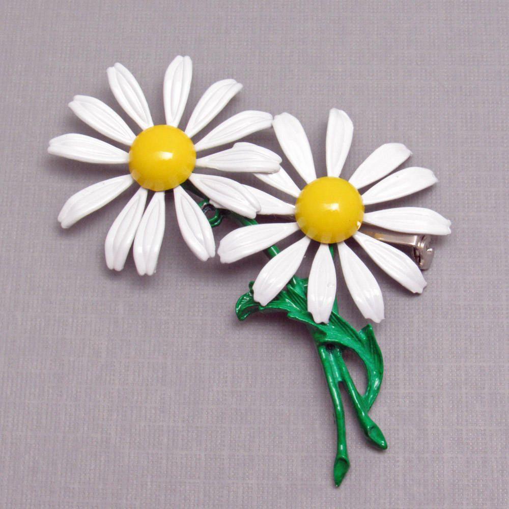 Flower brooch double daisy vintage jewelry p8607 flower brooch flower brooch double daisy vintage jewelry p8607 izmirmasajfo
