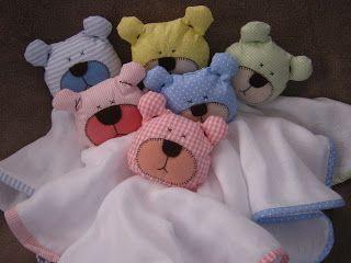 ae7560b16 Nana nenem: Naninha de ursinho | BEBE PUNTO DE CRUZ 1 | Baby crafts ...