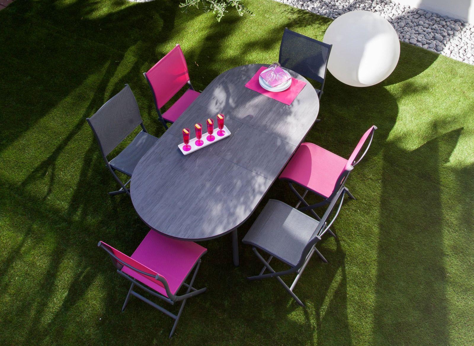 Table Bilbao 160/200 cm, plateau Trespa® - Tables de jardin ...
