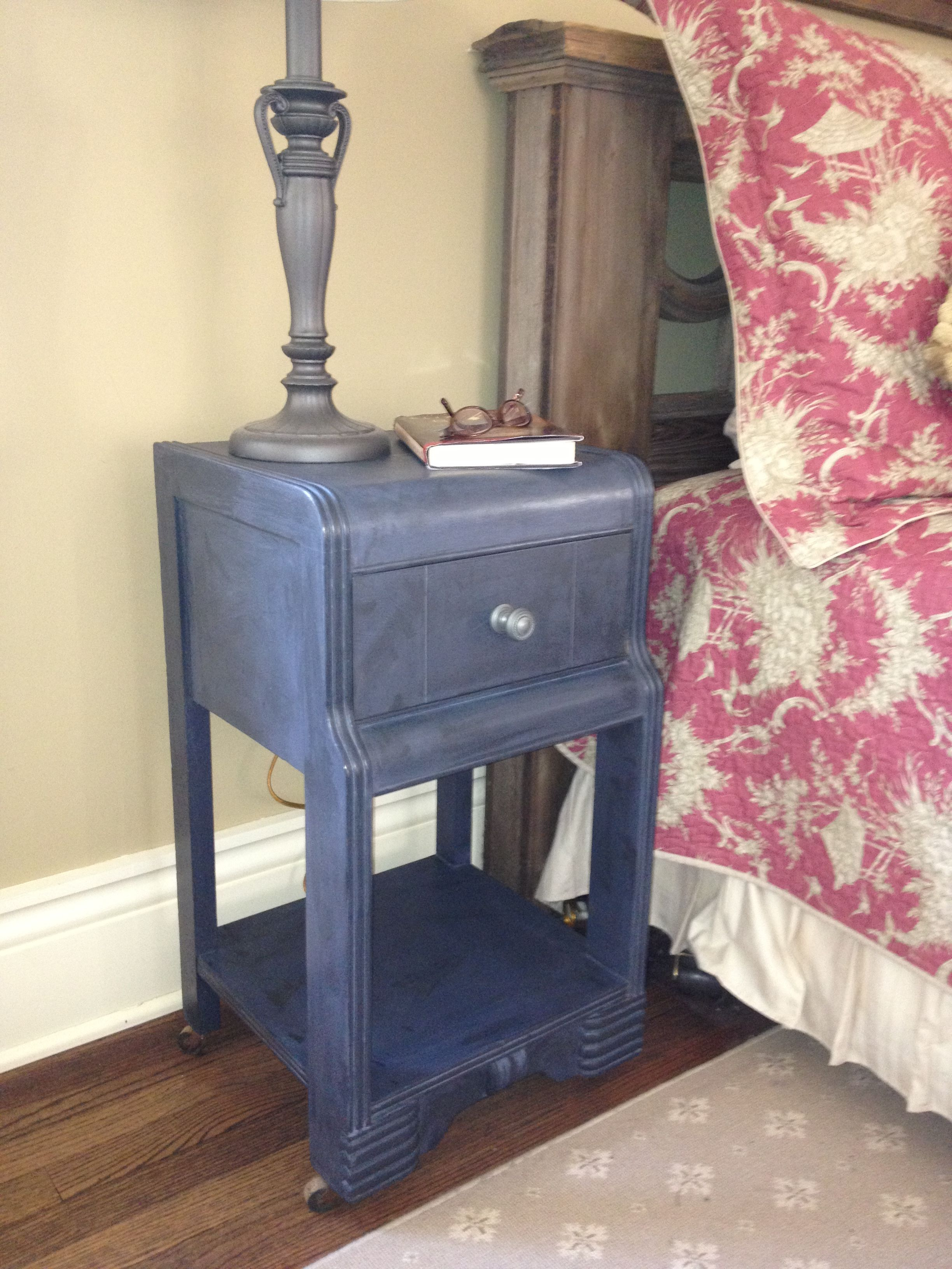 1940s Waterfall nightstand, painted with Annie Sloan Chalk ...