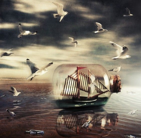 Message in a bottle by gwladys rose