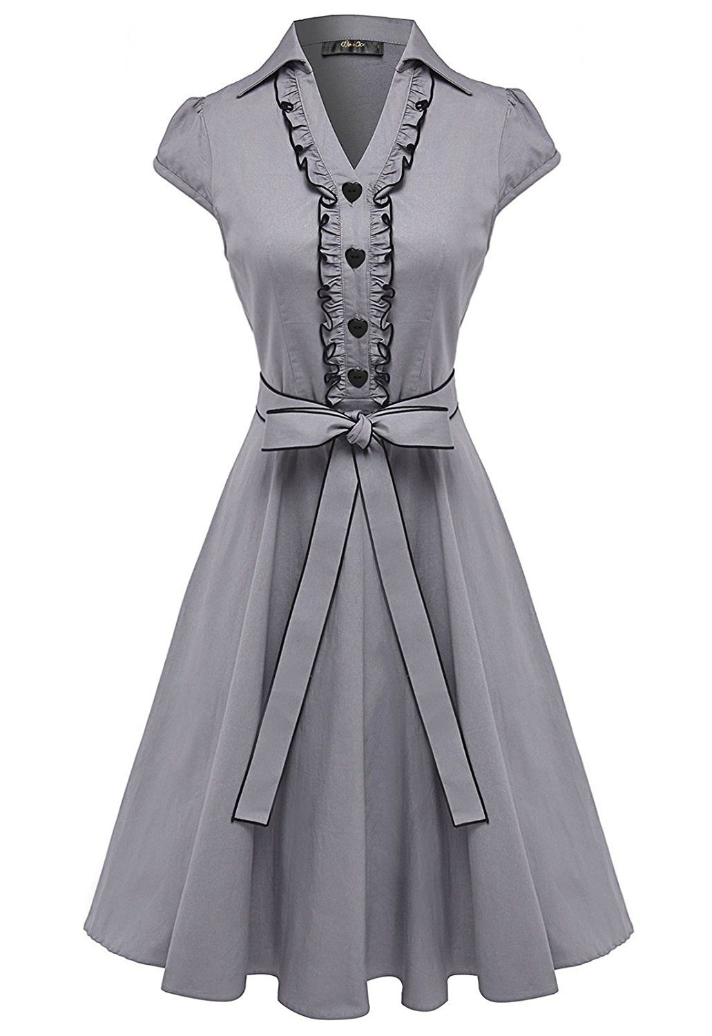 Anni Coco Womens 1950S Cap Sleeve Swing Vintage Party -9441