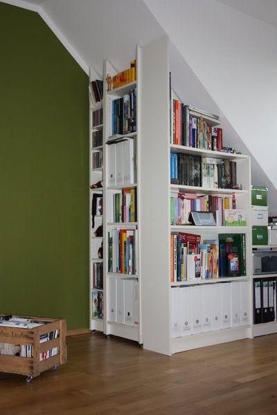 billy regal zugeschnitten dachgeschoss pinterest dachschr ge arbeitszimmer und dachgeschosse. Black Bedroom Furniture Sets. Home Design Ideas